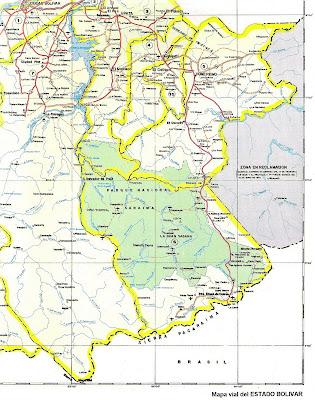 Union de de curacao, bonaire, aruba/ trinidad y tobago a Venezuela - Página 3 Mapa+del+Estado+Bolivar
