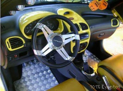 fotos peugeot pejo 206 tunado tuning amarelos rebaixado modificado