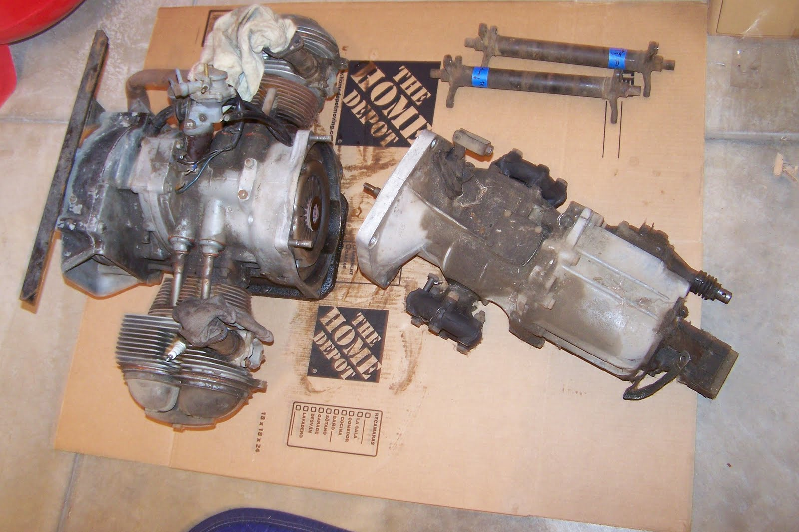 Bmw 700 Sport Coupe Restoration Engine And Trans Are Out
