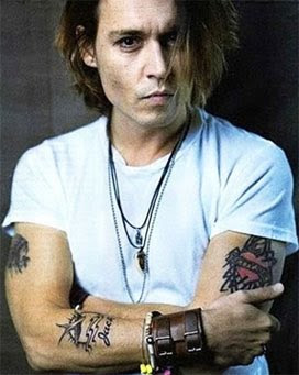 johnny depp tattoo pictures