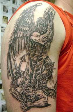 Angel Devil Tattoos on Angel Devil Tattoos Power Of Safety And Protection   Tattoo Designs