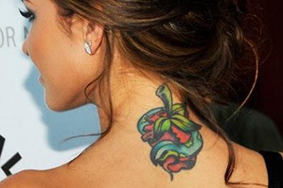 audrina patridge neck tattoo