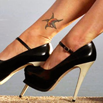 Tag : megan fox tattoo, celebrity tattoo, megan fox ankle tattoo