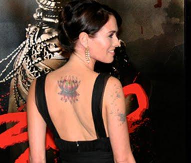 Actress Lena Headey flower tattoo design Wednesday March 10 2010
