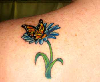 Flower butterfly tattoo images
