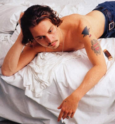 J Johnny Depp tattoo style
