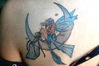image of Fairy moon and fairy star tattoo
