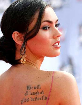 Megan Fox Hot Quote Tattoo.
