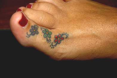 toe star tattoo images