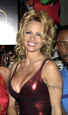 Pamela Anderson arm band tattoo