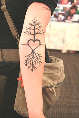 tree tattoo on ribs