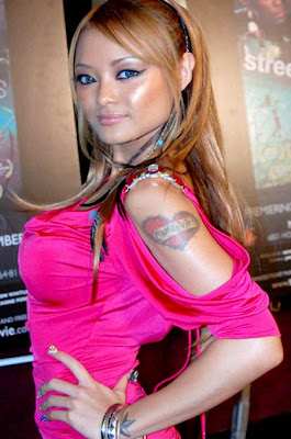 picture of tila tequila love tattoo