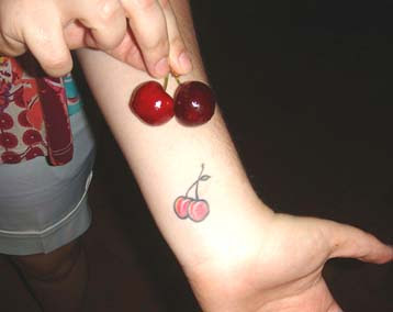 cherry fruit tattoo