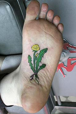 foot tattoo images
