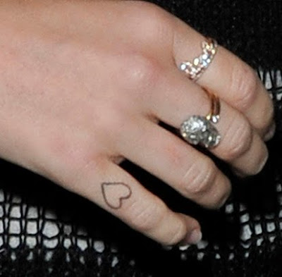 celebrity miley cyrus finger tattoo design