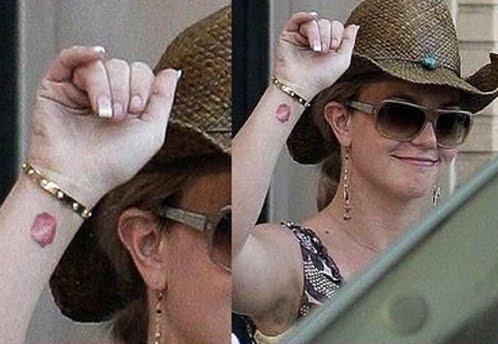 female celebrity tattoo. Female celebrity wrist tattoo