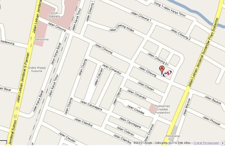 Peta PANDU LOGISTICS MALANG