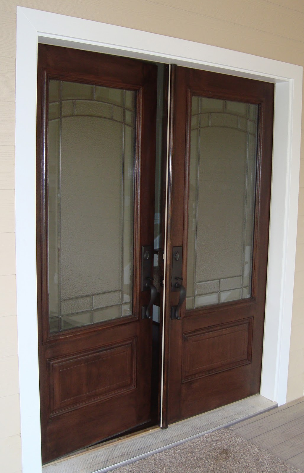 1600 #3E2A23 ABE Painting: Enjoy Pictures From A Few Of Our 2010 Jobs. image Stainable Fiberglass Entry Doors 40231028