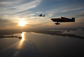 Tim and Eric over Lake Murray