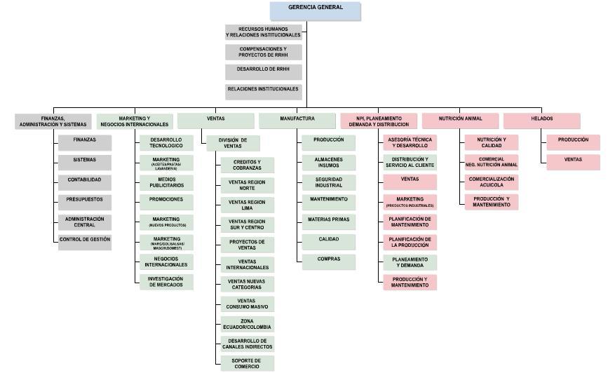 Organigrama de una empresa hibrida peruana for Produccion de plantas ornamentales pdf