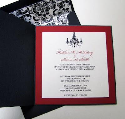 Chandelier Wedding Invitations on Hms Designs  Damask And Chandelier Wedding Invites