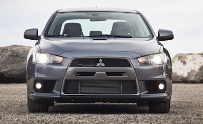 2010 Mitsubishi Lancer Evolution MR Touring Front View