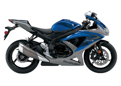 2010 Suzuki GSX-R600 Side View