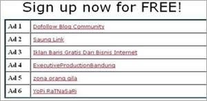 member link lists form fwebtraffic