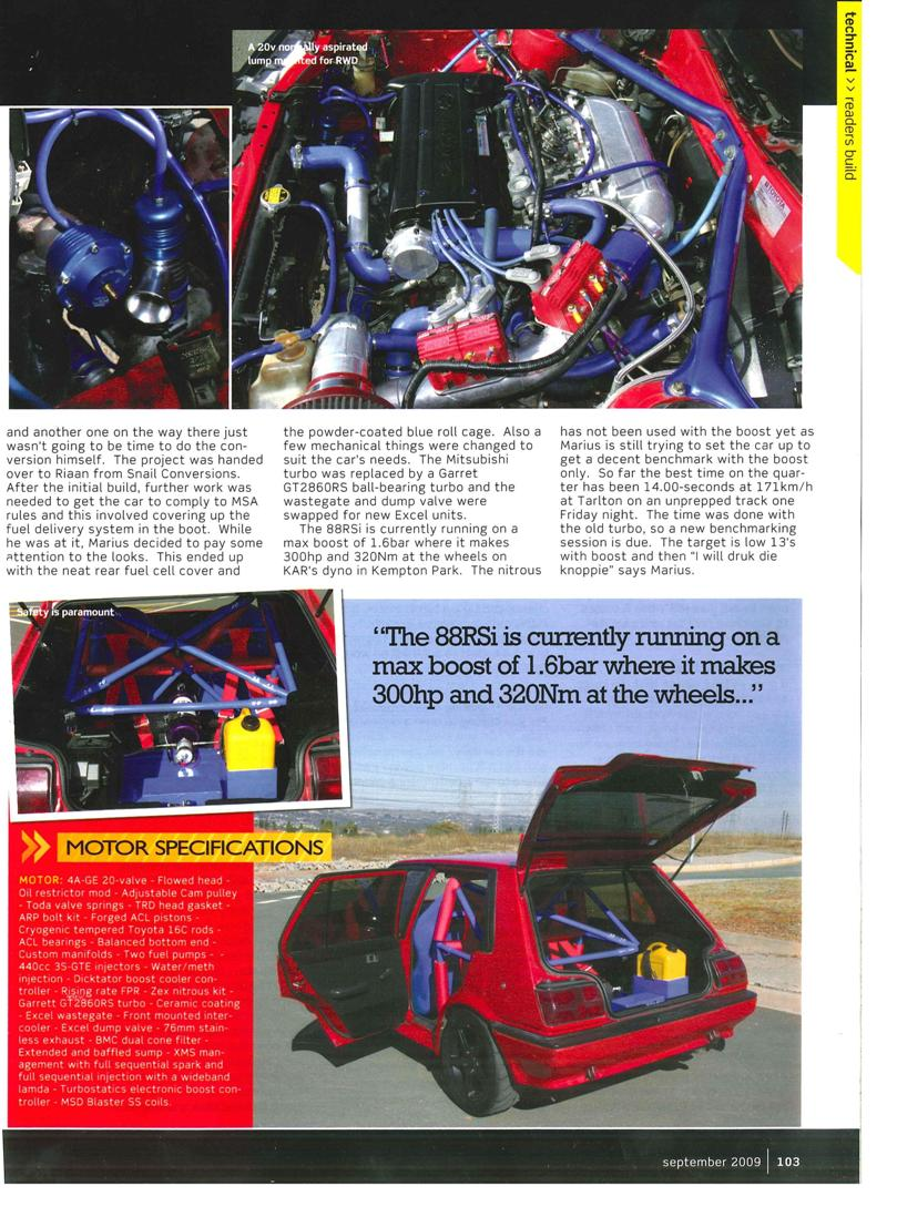 The Rsi Registry 2009 Corolla Rxi 20v Modified Cars Pictures Providing This Article To Which Is About His Ride As Featured In September Edition Of Speed And Sound Magazine Wow Car An