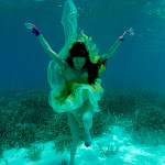 Underwater images for Vogue magazine