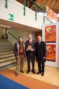 Insieme con il prof. Lucas Navarro (centro) e S. Bianco - 8 marzo 2008 - Expo studi&lavori