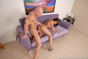 Hot bitches share on their partners cock