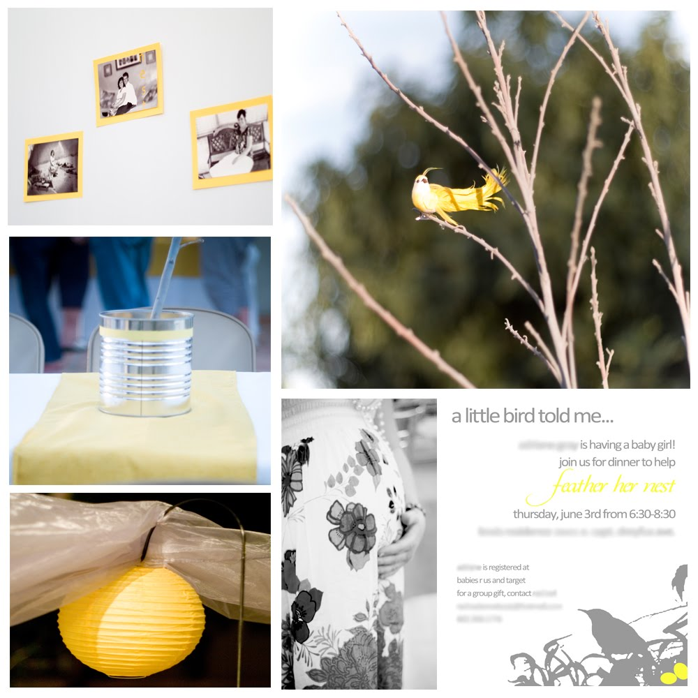 Phoenix event planning feather her nest baby shower for Bird themed bathroom accessories
