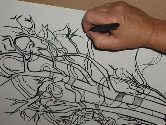 Pen and Ink Line Drawing