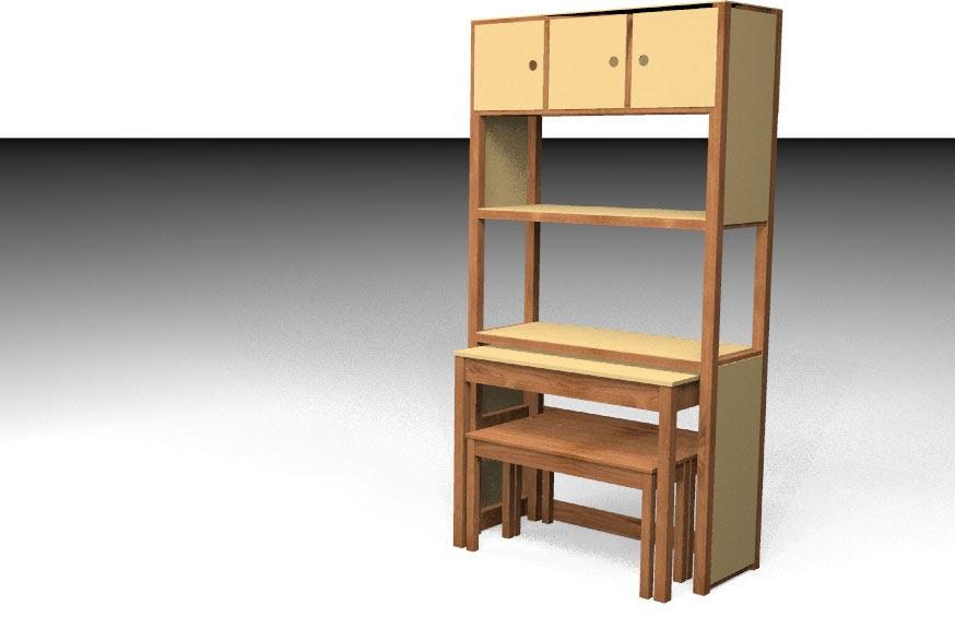 Dise o de sistema de mobiliario de madera para sectores de for Diseno cocinas uruguay