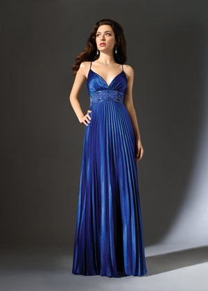 Vestidos azul metalico largos
