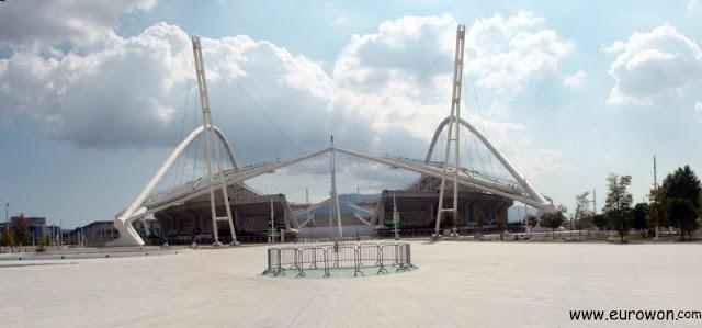 Vista de la zona olímpica moderna de Atenas