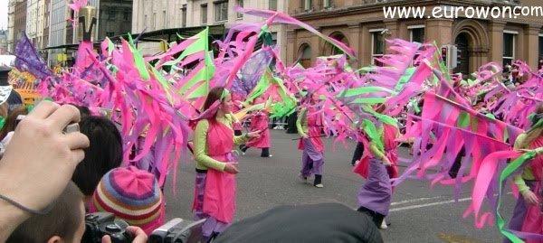 Desfile del día de San Patricio en Dublín