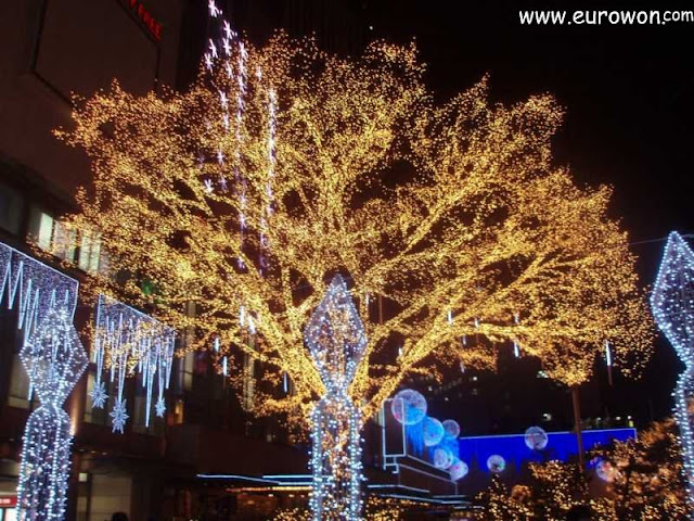 Iluminación navideña en Seúl