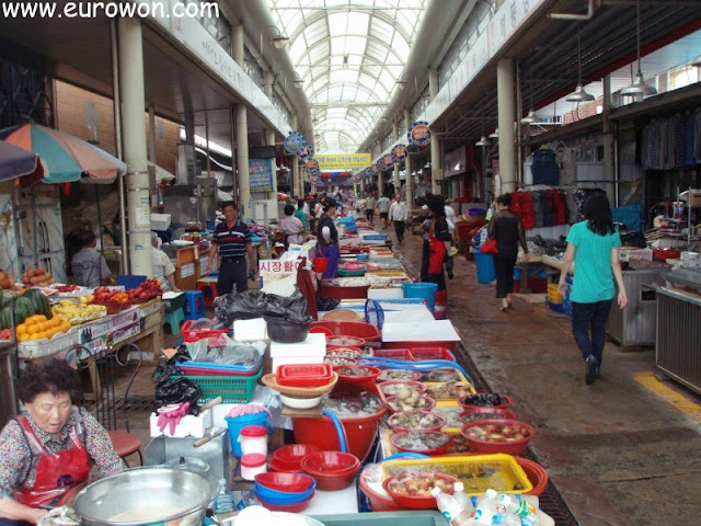 Mercado de pescado y marisco de Tongyeong