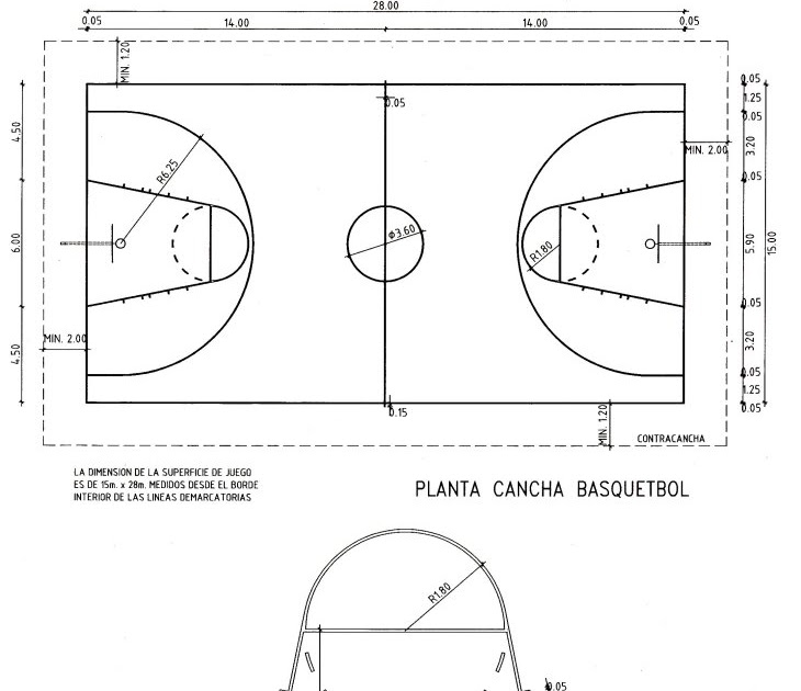un dia comun  la cancha de basquet