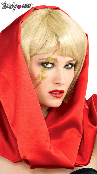 Gallery For > Lady Gaga Lightning Bolt Poker Face Lady Gaga Poker Face