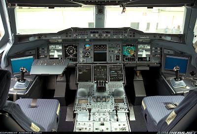 Cabina de última generación del Airbus A380