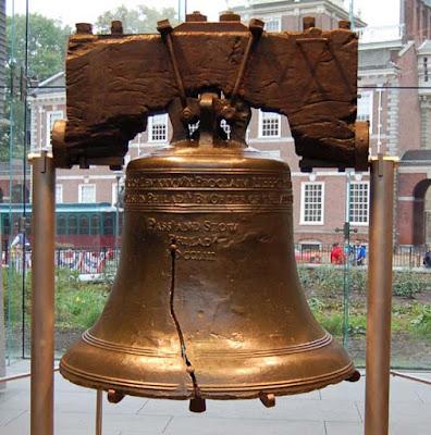 Grieta causada por fatiga en la 'Liberty Bell'