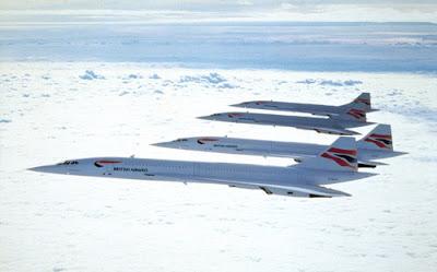 parte de la flota de Concordes de British Airways