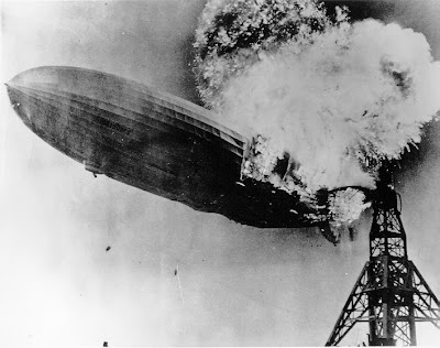 El Hindenburg en el momento del desastre