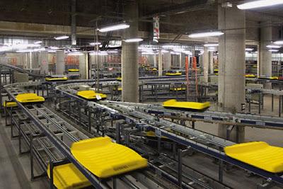 Bandejas DCV en la terminal 4 de Barajas