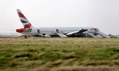 Accidente de un avin de British Airways en Heathrow