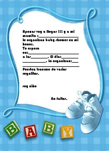 Invitaciónes para Baby Shower para mandar por FaceBook - Imagui