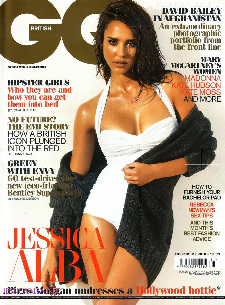Jessica Alba graces the cover of GQ Magazine November 2010.